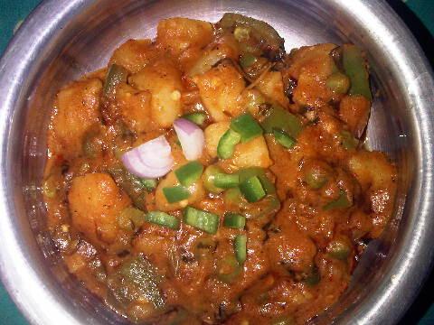 Capsicum-Potato-Peas Curry