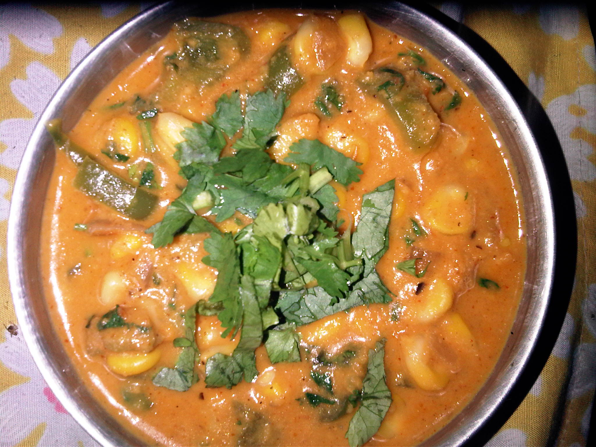 Corn Capsicum Curry