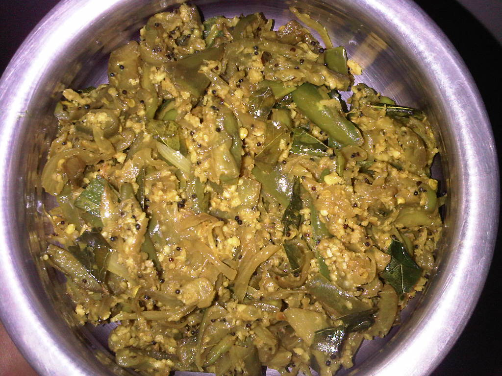 Long Green Brinjal - Side Dish