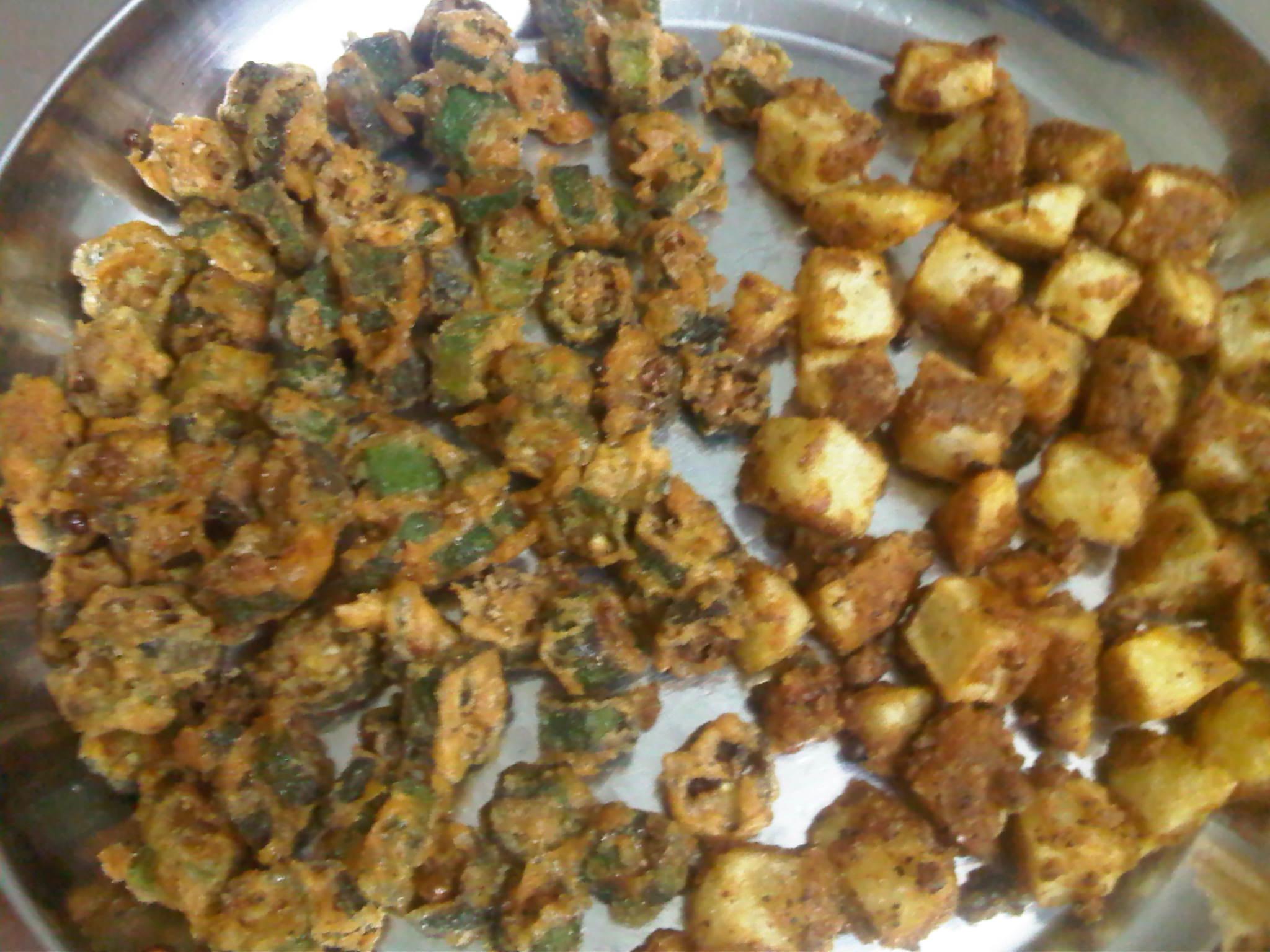 Okra Fry & Potato Fry