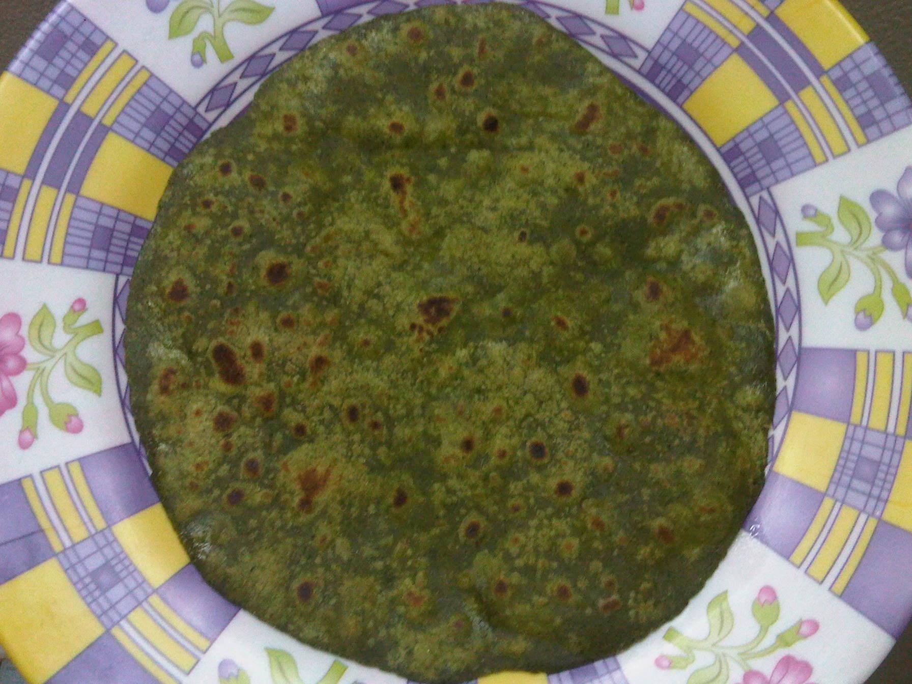 Green Spinach Paratha