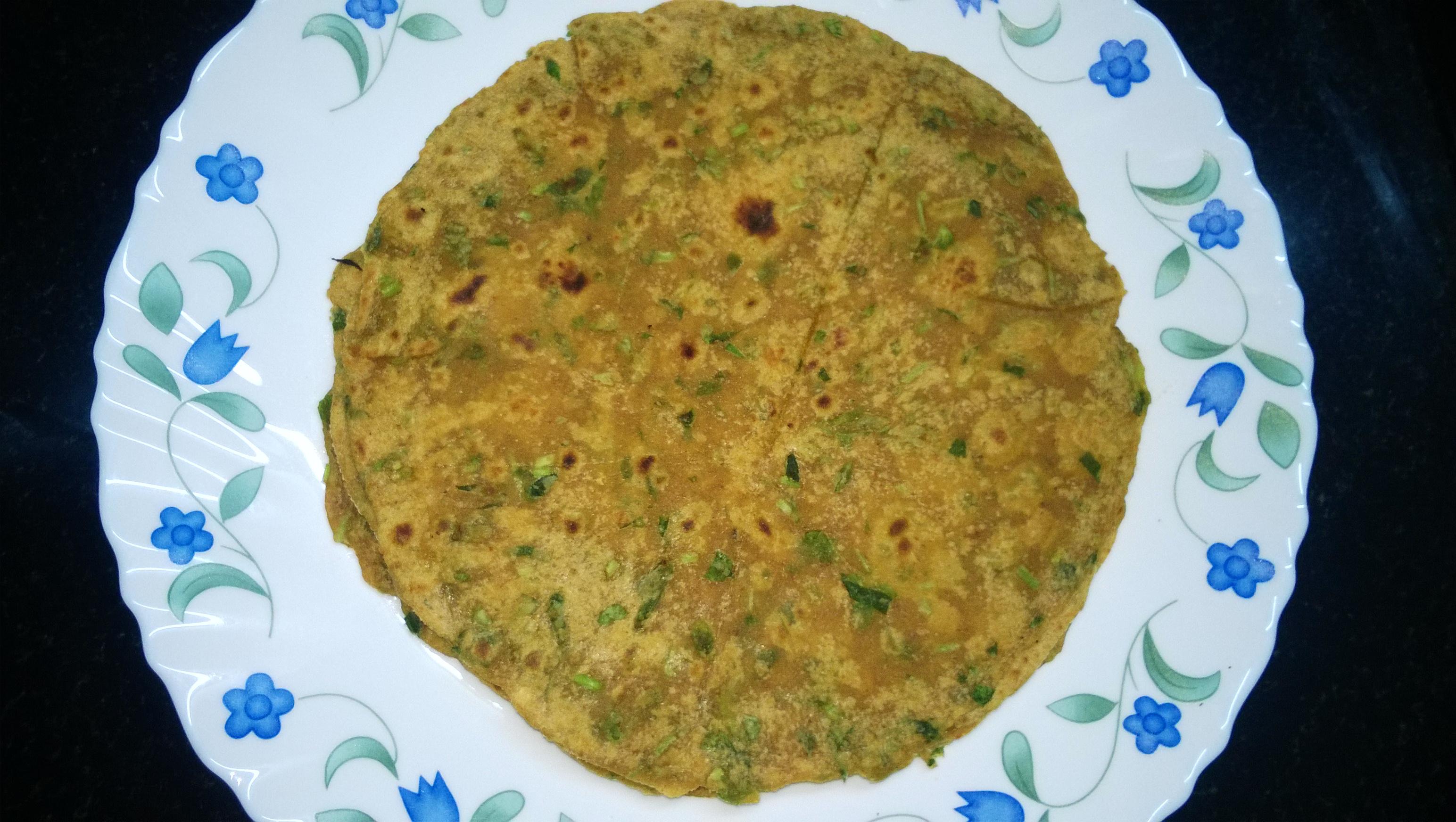 Spiced Methi Paratha