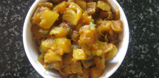 Potato Onion Stir Fry