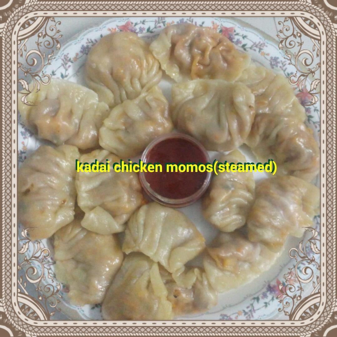 Kadai Chicken Steamed Momos